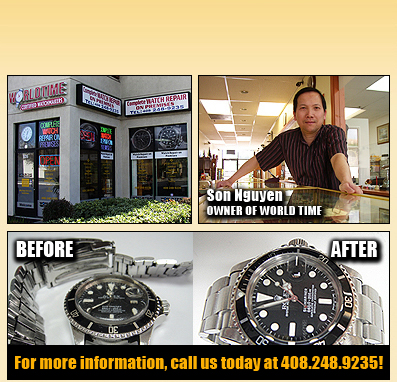The store with owner and before and after of watch